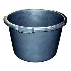 Bau-Kübel 65,0 l, Ø 60,0 cm, 'Profi', schwarz, Skalierung