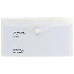 Office Depot Aufbewahrungstaschen DL 130 x 230 mm Transparent Polypropylen 5 Stück