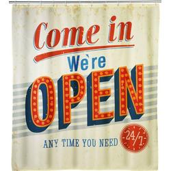Wenko 21585100 Vintage Open Anti-Schimmel Duschvorhang Polyester waschbar (B x H) 180mm x 200mm