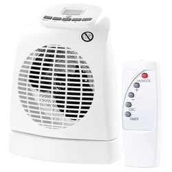 Heizlüfter LV-245, 2.000W, Ventilator, Oszillation, Thermostat, Fernb.
