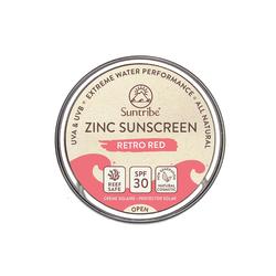 Suntribe Bio-Zinksonnencreme Gesicht & Sport LSF 30 Retro Rot