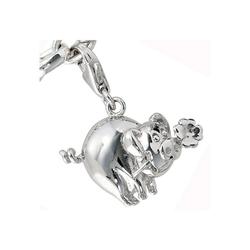 JOBO Charm-Einhänger Glücksschwein, 925 Silber
