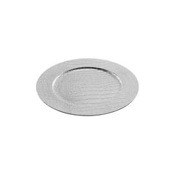 HTI-Living Dekoteller Dekoteller silber Lederoptik (1 Stück)