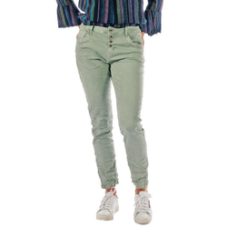 Charis Moda Bootcut-Jeans Royal Blue Karostar Cropped Style grün 38
