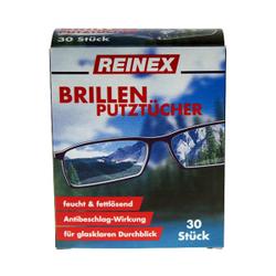 Reinex Brillenputztücher, Für den glasklaren Durchblick, Inhalt: 30 Stück