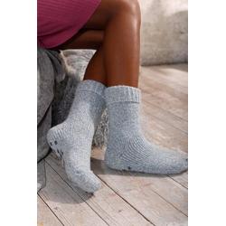 Sympatico ABS-Socken (1-Paar) aus Strick mit rutschfester Sohle blau 35-38