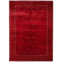 Wollteppich LORIBAFT CROCO, morgenland, rechteckig, Höhe 18 mm, Luxus, fein Handgeknüpft rot 250 cm x 350 cm x 18 mm