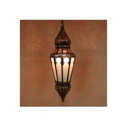 Casa Moro Lampenschirm Orientalische Hängeleuchte Ramla mit Milchglas handgefertige Lampe aus Marokko, L1267