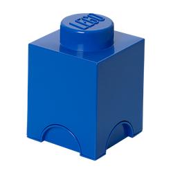 LEGO® Aufbewahrungsstein mit 1 Noppe in Blau
