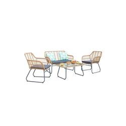HTI-Line Sitzgruppe Terrassenmöbel Marsala, (1x Zweisitzer, 2x Sessel, 1x Tisch, 4-tlg), Terrassenmöbel