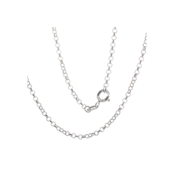 Bella Carina Silberkette Silberkette Gliederkette rhodiniert 1,8 mm, 1,8 mm, 925 Silber rhodiniert 50 cm