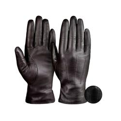 Tarjane Lederhandschuhe Kaschmir Damen Kaschmir Handschuhe braun 7
