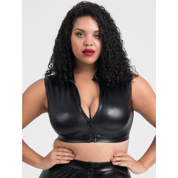 Lovehoney Plus Size Fierce bauchfreies Wet-Look Top