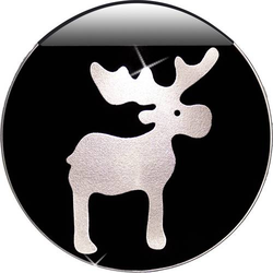 Krinner 76103 LED-Fensterbild Elch LED Transparent