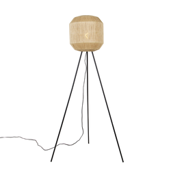 Orientalische Stehlampe schwarz mit Seilstativ - Riki