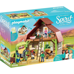 Playmobil® Konstruktions-Spielset Stall mit Lucky, Pru & Abigail (70118), Spirit Riding Free, Made in Germany