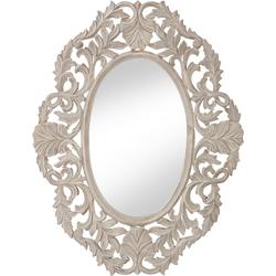 Barockspiegel, Spiegel, 78341213-0 grau (B/H/T): 70/90/2 cm grau