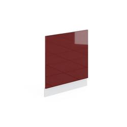 Vicco Frontblende Geschirrspülerblende 60 cm ohne Arbeitsplatte Küchenschrank Küchenschränke Küchenunterschrank R-Line Küchenzeile rot