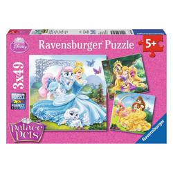 Ravensburger Puzzle Disney Palace Pets Belle, Cinderella Und Rapunzel, 147 Puzzleteile bunt