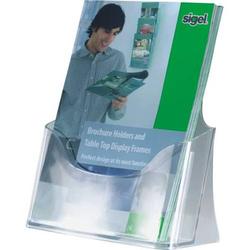 Tisch-Prospekthalter A5 mit 1 Fach glasklar VE=1 Stück