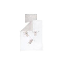 Julius Zoellner Bettwäsche in weiß/beige mit Muster Koalas/Star beige, 100 x 135 cm