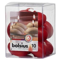 Bolsius Schwimmkerze 10er Packung rote Schwimmkerzen
