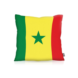 Kissenbezug, VOID, Senegal Flagge Fahne Fan WM Fussball Afrika 80 cm x 80 cm