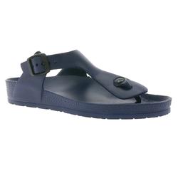 Zapato ZAPATO EUROPE Damen Zehentrenner bequeme Sandalen Schuhe Navy Zehentrenner 37