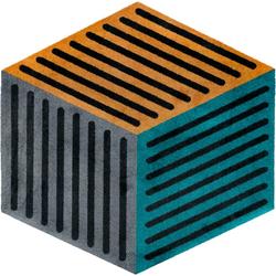 Teppich, Puzzle Cube, wash+dry by Kleen-Tex, sechseckig, Höhe 9 mm, gedruckt bunt Kinder Bunte Kinderteppiche Teppiche