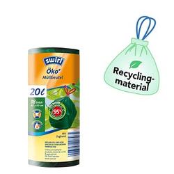18 swirl® Zugband-Müllbeutel Öko-Müllbeutel 20,0 l