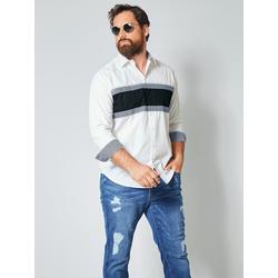 Hemd Men Plus Weiß/Marineblau