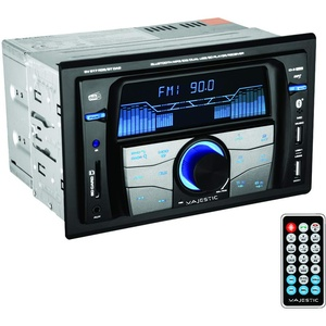 Majestic SV 517 RDS BT Dab Autoradio FM Stereo Dab+ Bluetooth, Doppel-DIN, USB/SD/AUX-In, USB Charger, 180W (45x4ch), schwarz