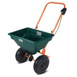 Gardebruk Streuwagen, 20 L Streumenge einstellbar XXL Luftreifen - Saatgutstreuer Streuer für Salz Dünger Rasen Saatgut