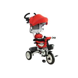 HOMCOM Dreirad 4-in-1 Kinderdreirad mit Sonnendach rot
