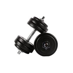 MSports® Hantel MSPORTS Hantelset - auswählbar - 20 kg oder 30 kg Kurzhantelset schwarz