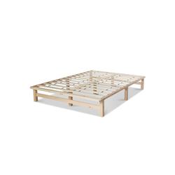 Homestyle4u Holzbett, Palettenbett mit Lattenrost, 90 cm und 140 cm natur 140 cm x 200 cm x 28 cm