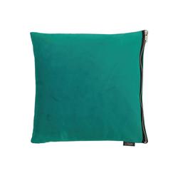 APELT Kissenhülle TASSILO, Tassilo_Uni-Samt_Kissenhülle grün 46 cm x 46 cm
