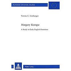 Margery Kempe. Verena Neuburger-Noetzli  - Buch