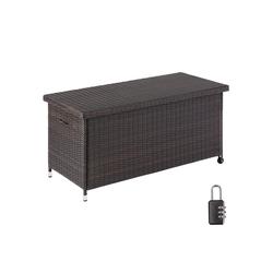 tectake Gartenbox Auflagenbox Kiruna mit Kunststoffgeflecht,