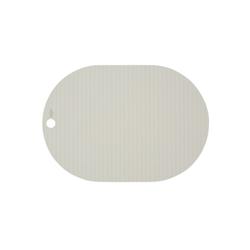 Platzset, Ribbo, OYOY, (2er Set), Tischset Tischschutz Platzdecken Silikon Oval Unterlage Bastelunterlage Malunterlage weiß