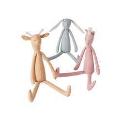 Vertbaudet 3er-Set Stofftiere Giraffe, Hase und Einhorn aus L