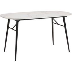 INOSIGN Esstisch Pompeo, Tischplatte in Marmoroptik 140 cm x 75 cm x 80 cm