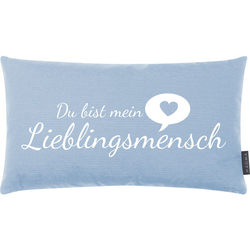 JAKO-O Kissen Lieblingsmensch, blau - blau