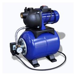 vidaXL Gartenpumpe Hauswasserwerk Gartenpumpe Motorpumpe Pumpe Elektronik 1200w Blau