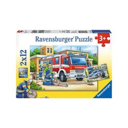 Ravensburger Puzzle 2er Set Puzzle, je 12 Teile, 26x18 cm, Polizei und, Puzzleteile