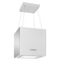 Dunstabzugshaube Deckenhaube LED Glas Inselhaube »Kronleuchter«, Dunstabzug, 32256624-0 weiß weiß