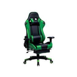 Woltu Gaming-Stuhl Gamingstuhl Racingstuhl Drehstuhl Kunstleder Modell Mario grün