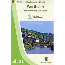 W204 Wanderkarte 1:25 000 Wertheim - Buch