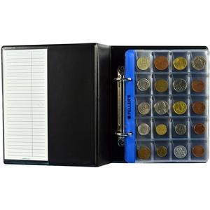 PELLER'S AS200 Sammelalbum für 200 10 Hüllen, Fächer 31 x 26mm. Für Münzen mit Ø 22.5mm. Münzalbum S, Plastik, Schwarz, S