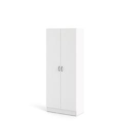 ebuy24 Kleiderschrank Fox Kleiderschrank mit 2 Türen, weiß.